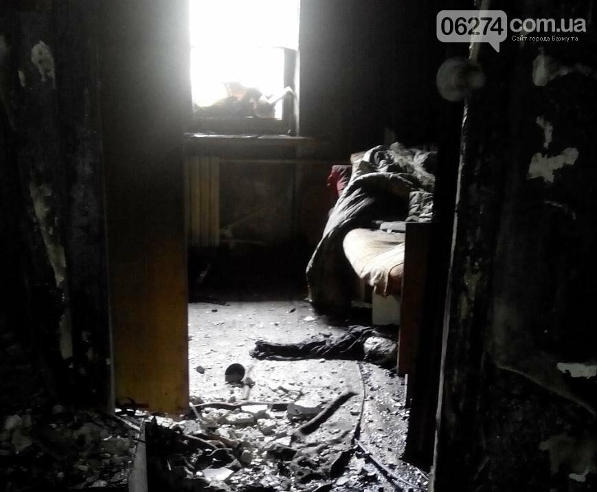 В Бахмутском районе пожар унес жизнь женщины, фото-1