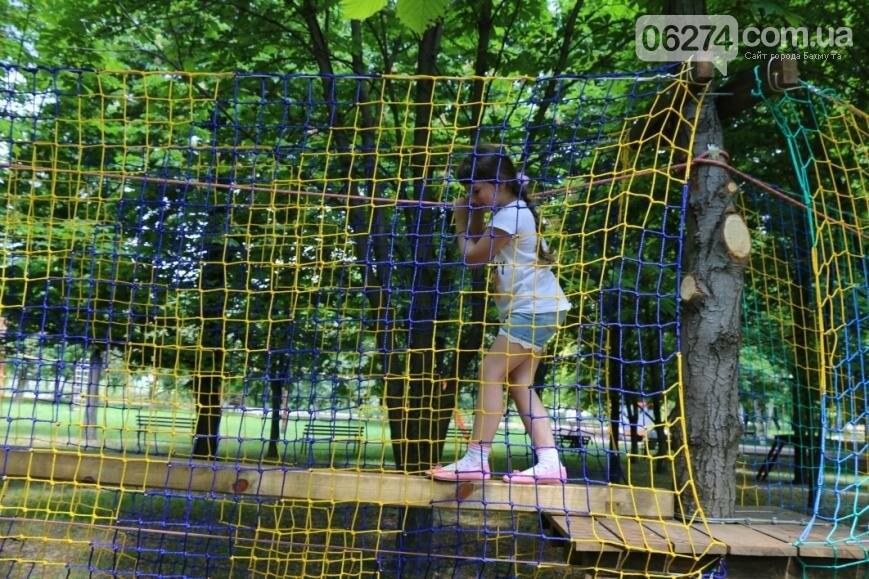 В Бахмуте открылся веревочный парк «Маугли», фото-1