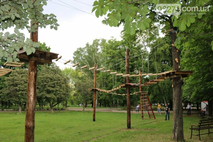 В Бахмуте открылся веревочный парк «Маугли», фото-3