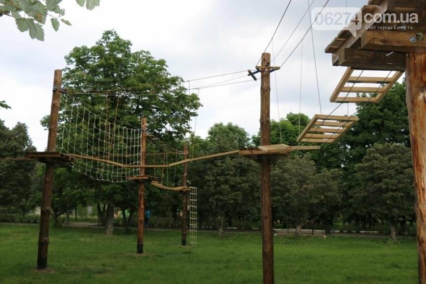 В Бахмуте открылся веревочный парк «Маугли», фото-4