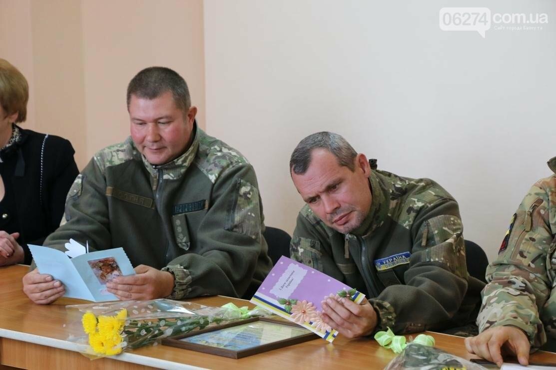С Днем Защитника Украины военнослужащих поздравил мэр Бахмута, фото-23