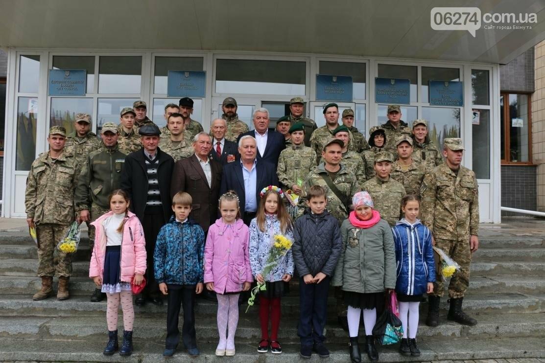 С Днем Защитника Украины военнослужащих поздравил мэр Бахмута, фото-25