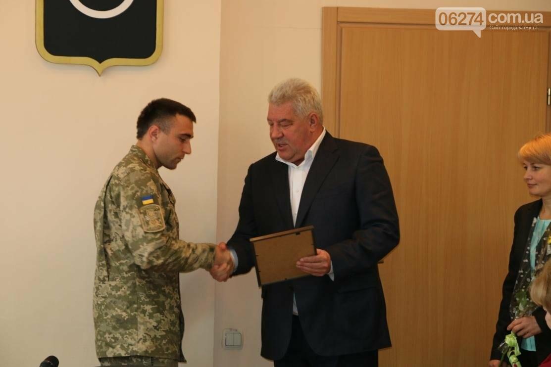 С Днем Защитника Украины военнослужащих поздравил мэр Бахмута, фото-13