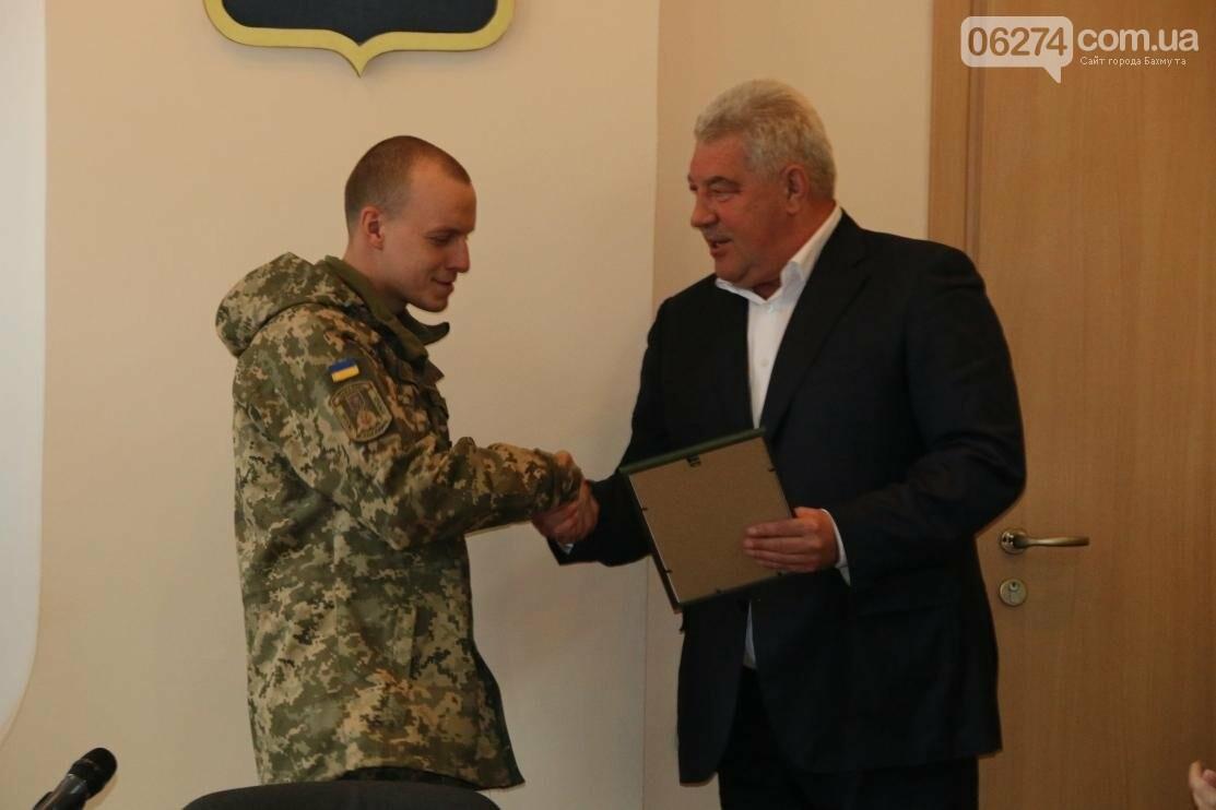 С Днем Защитника Украины военнослужащих поздравил мэр Бахмута, фото-9