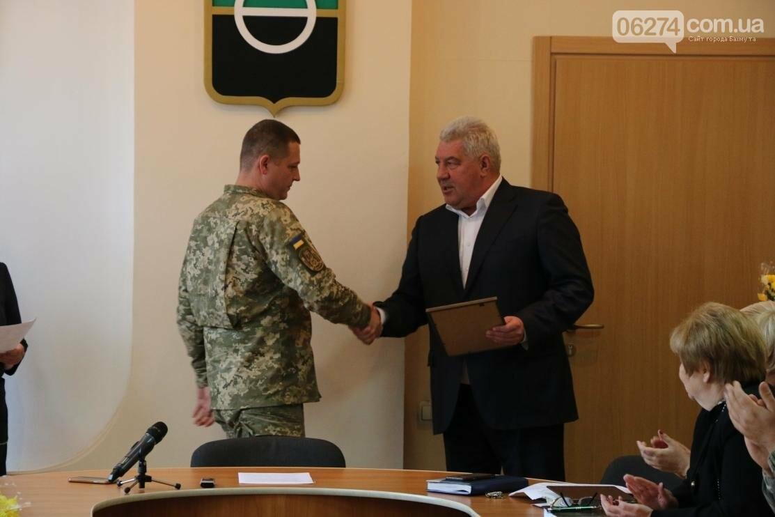 С Днем Защитника Украины военнослужащих поздравил мэр Бахмута, фото-10