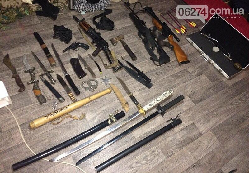 Полицейские Бахмута обнаружили в горожанина арсенал оружия, фото-3