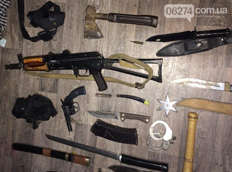 Полицейские Бахмута обнаружили в горожанина арсенал оружия, фото-1