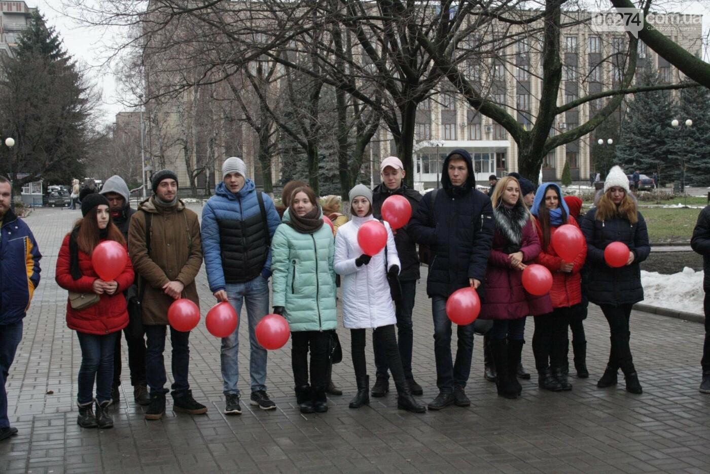 В Бахмуте прошел Молодежный флешмоб в поддержку людей с ВИЧ/СПИДом, фото-4