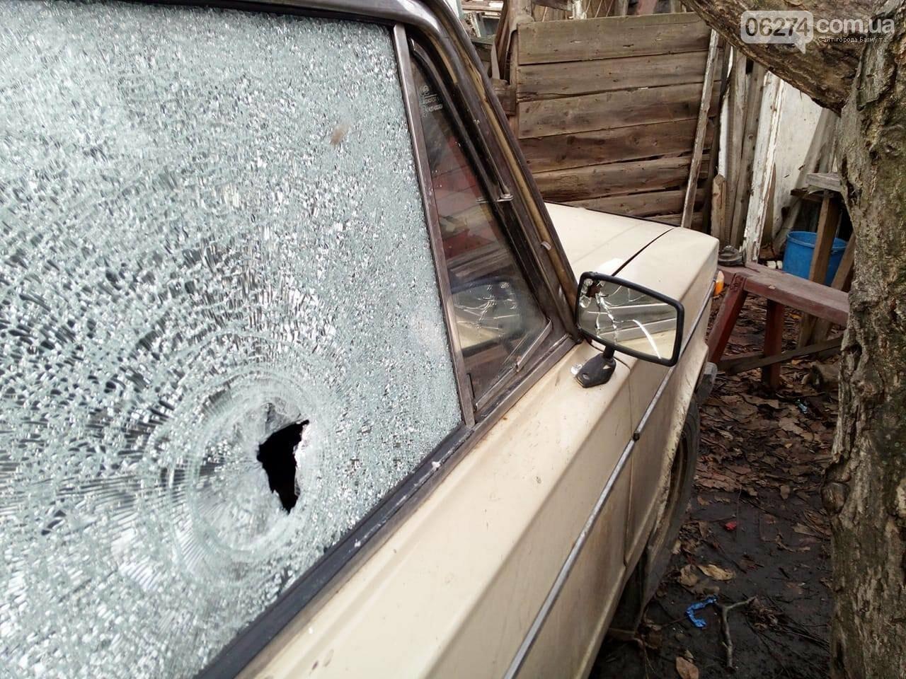 Боевики обстреляли автомобиль мирного жителя в Бахмутском районе (ФОТО), фото-1