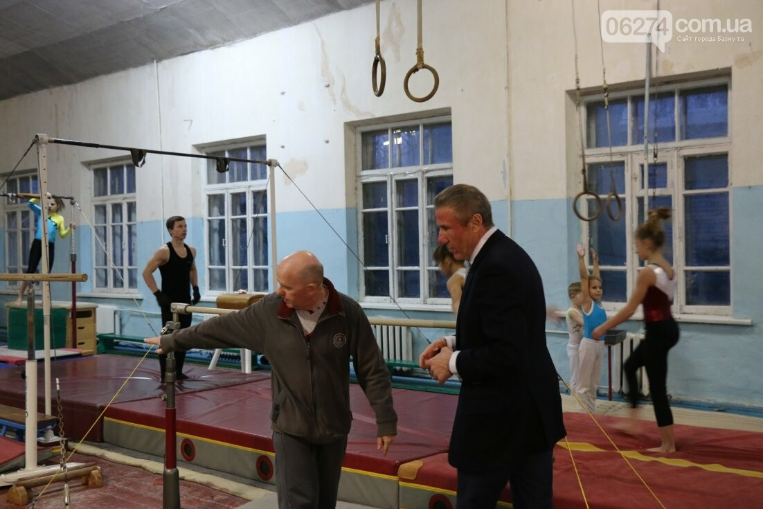 Сергей Бубка привез современное гимнастическое оборудование для спортсменов Бахмута, фото-5