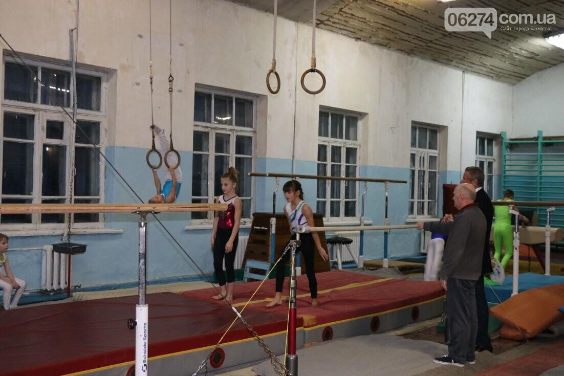 Сергей Бубка привез современное гимнастическое оборудование для спортсменов Бахмута, фото-1