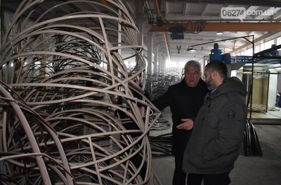 Бахмутский городской голова Алексей Рева посетил с рабочим визитом предприятия, фото-7