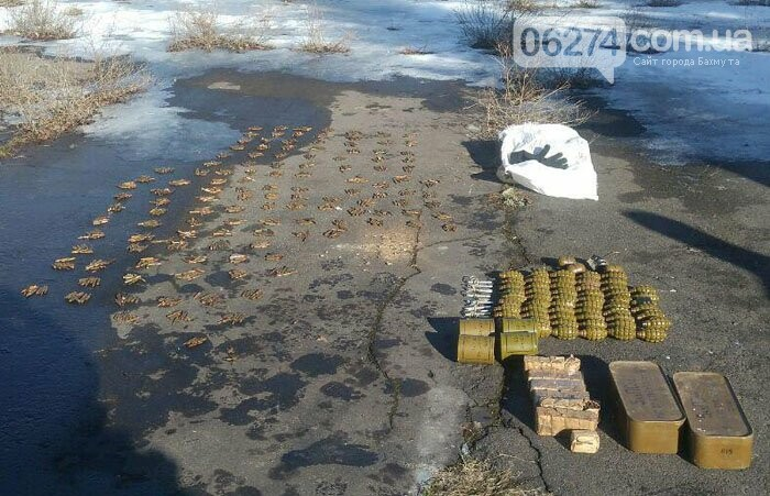 В прифронтовом Новолуганском обнаружен схрон боеприпасов, фото-1