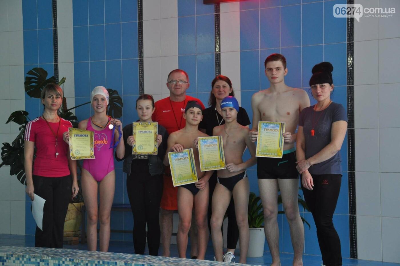 В Бахмуте прошел чемпионат по плаванью среди школьников, фото-5