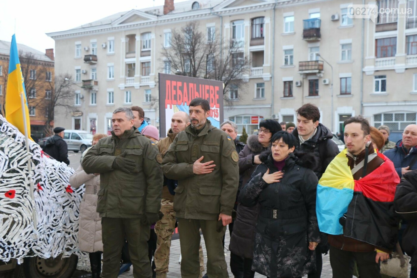 В Бахмуте прошел молебен по погибшим в Дебальцево, фото-8