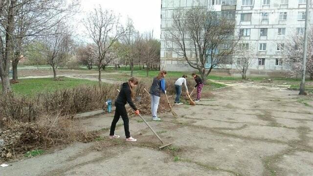 Школьники и студенты Бахмута приняли участие в общегородской экологической акции (ФОТО), фото-1