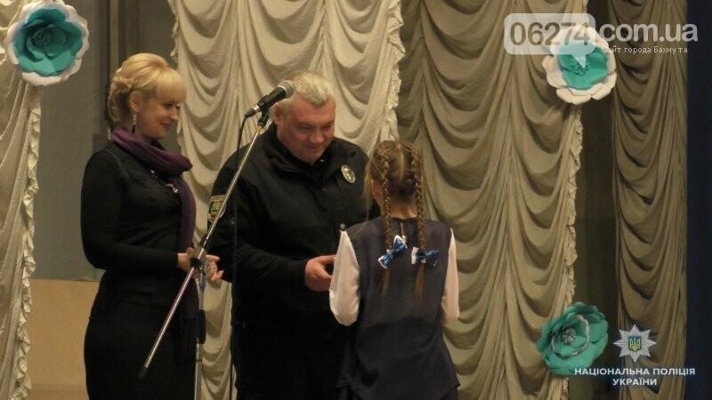 Полицейские Бахмута поздравили талантливых детей прифронтового Мироновского, фото-5