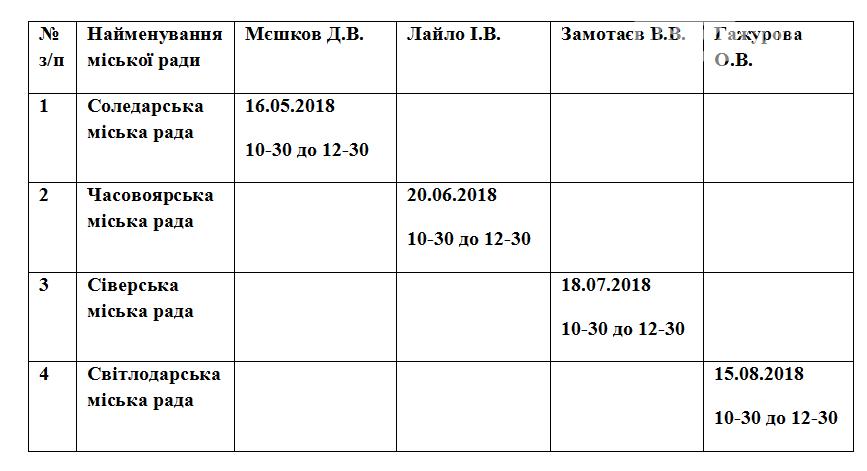 Руководство прокуратуры Бахмута проведет выездные приемы (ГРАФИК), фото-1