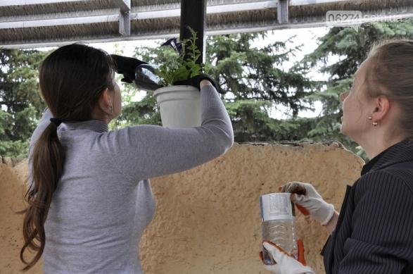 Студенты УИПА реставрировали эко-остановку в Бахмуте, фото-2