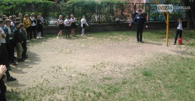 В Бахмутской ОШ №4 прошла учебная эвакуация, фото-4