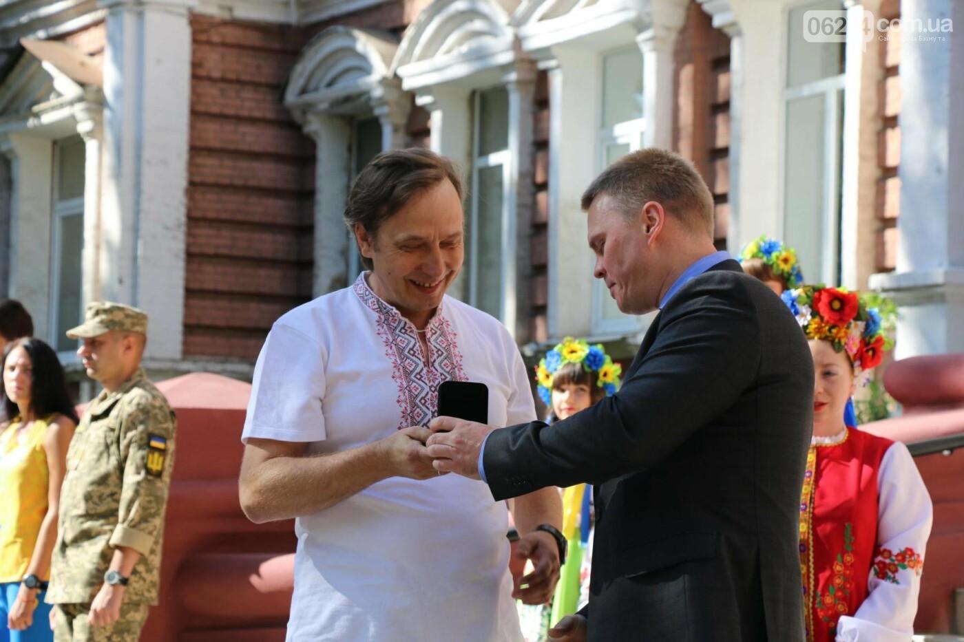 В Бахмуте отметили День государственного флага Украины, фото-11