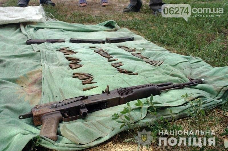 В Бахмутском районе полиция обнаружила тайник боевика «ДНР», фото-2