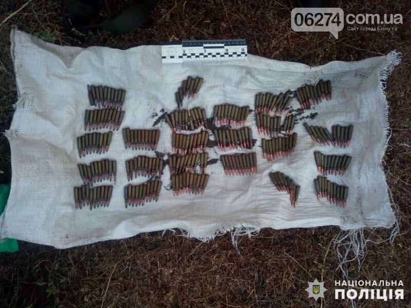 Житель Бахмутского района хранил в огороде целый арсенал боеприпасов, фото-1