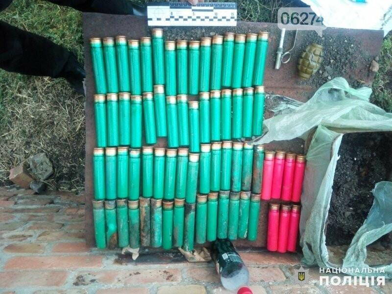 Житель Бахмутского района хранил в огороде целый арсенал боеприпасов, фото-2