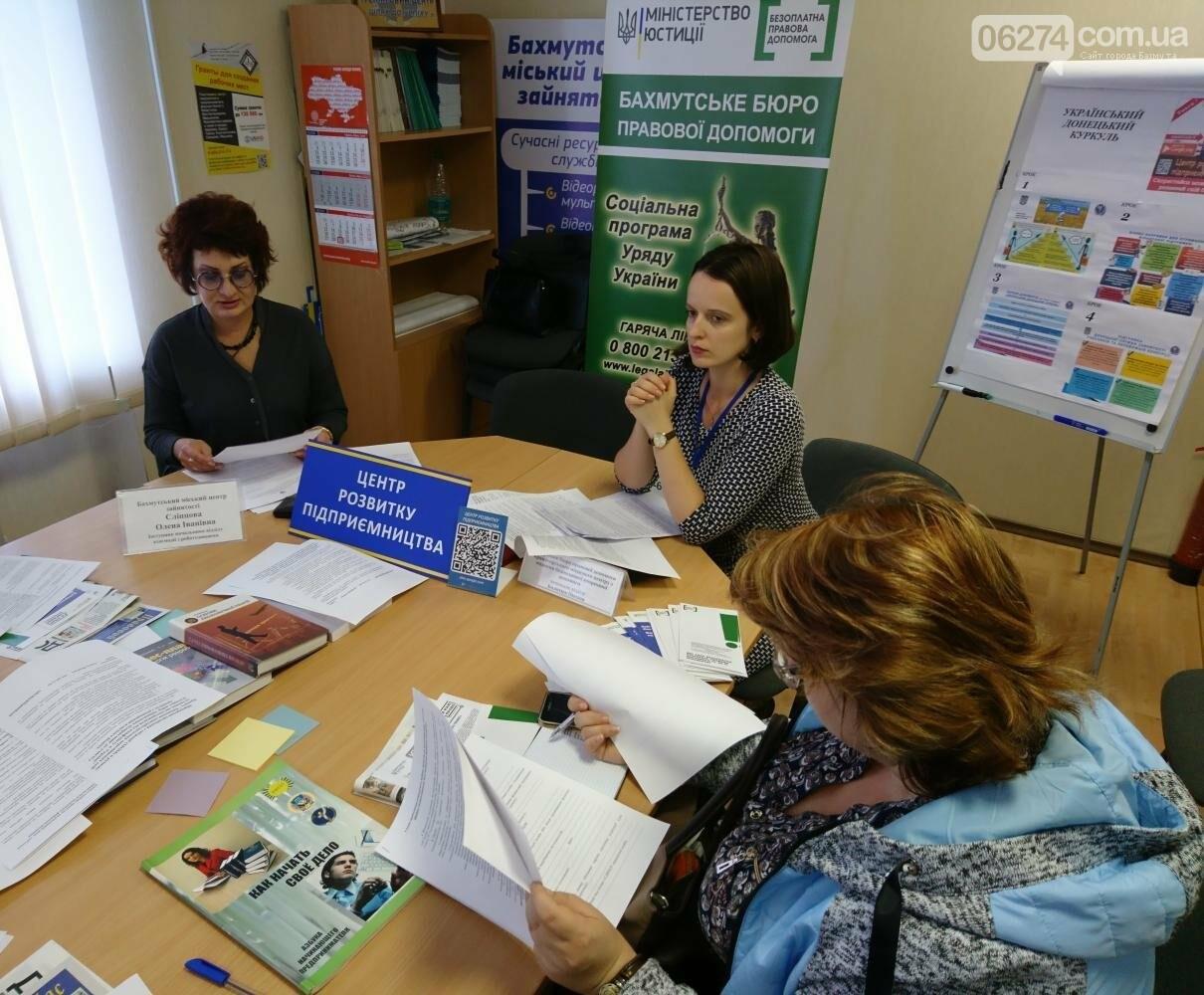 Предприниматели Бахмута приняли участие в правовом тренинге по бизнес-планированию, фото-1