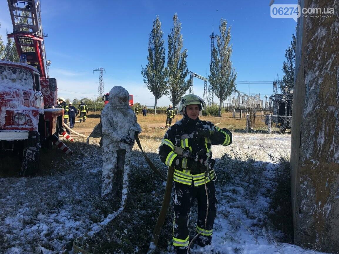 В Бахмуте спасатели провели совместные учения с работниками подстанции «Донбасская» (ФОТО), фото-7
