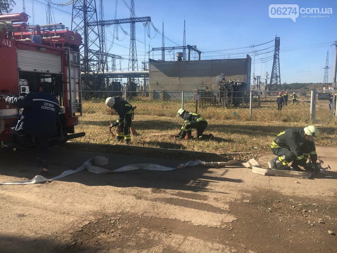 В Бахмуте спасатели провели совместные учения с работниками подстанции «Донбасская» (ФОТО), фото-6