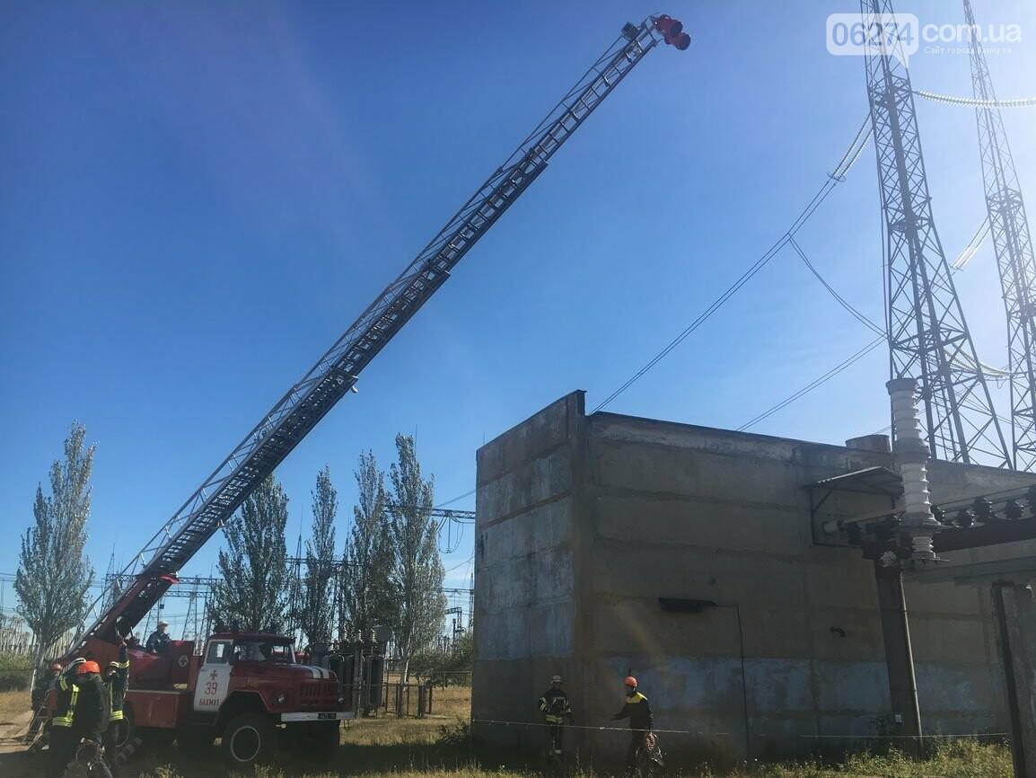 В Бахмуте спасатели провели совместные учения с работниками подстанции «Донбасская» (ФОТО), фото-3