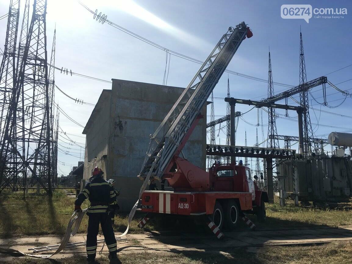 В Бахмуте спасатели провели совместные учения с работниками подстанции «Донбасская» (ФОТО), фото-5