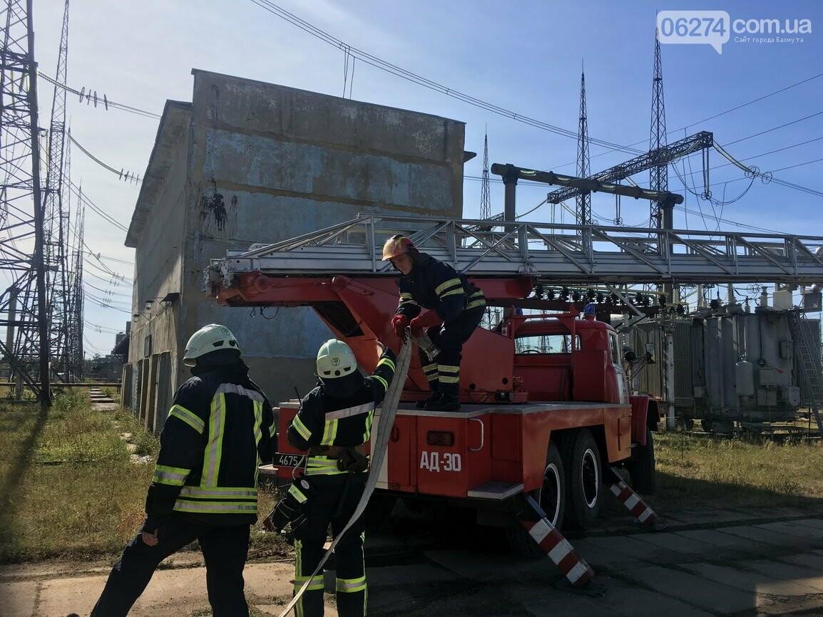В Бахмуте спасатели провели совместные учения с работниками подстанции «Донбасская» (ФОТО), фото-4