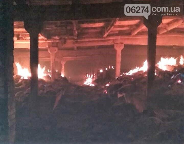 В Бахмутском районе горело хозяйственное предприятие, фото-1
