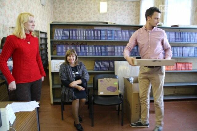 С помощью ПРООН в Бахмутском УВК №11 модернизируют библиотеку, фото-2