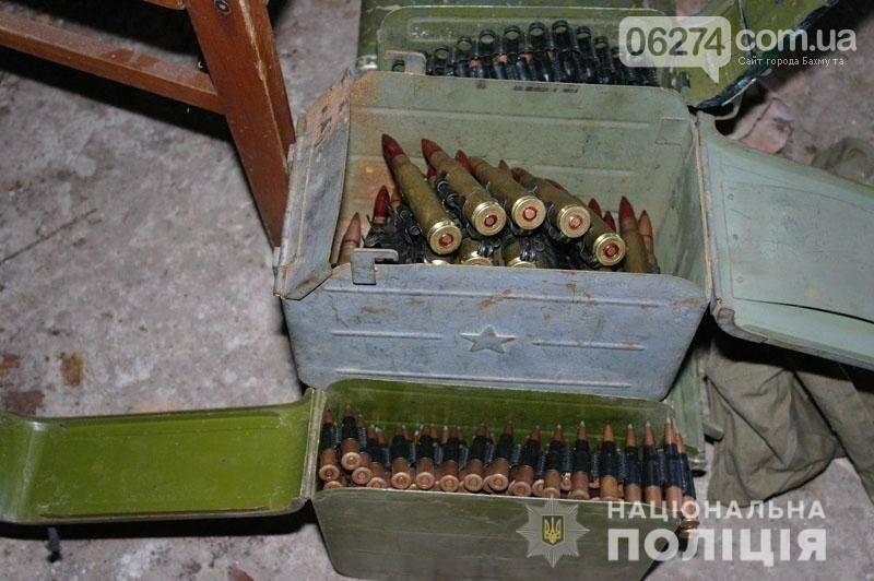 В Бахмуте полицейские изъяли склад с тысячами боеприпасов, фото-2