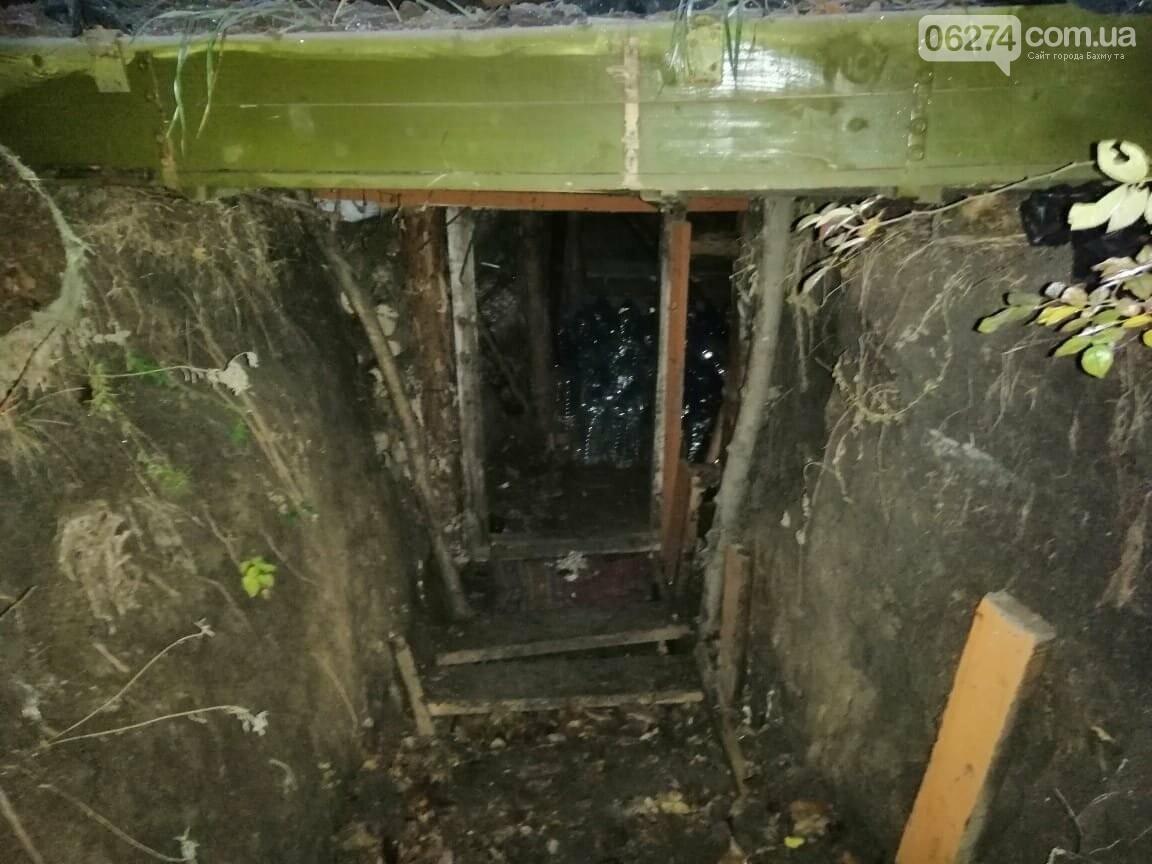 Рядом с прифронтовым Майорском военные нашли тайник с 1500 литрами спирта, фото-1