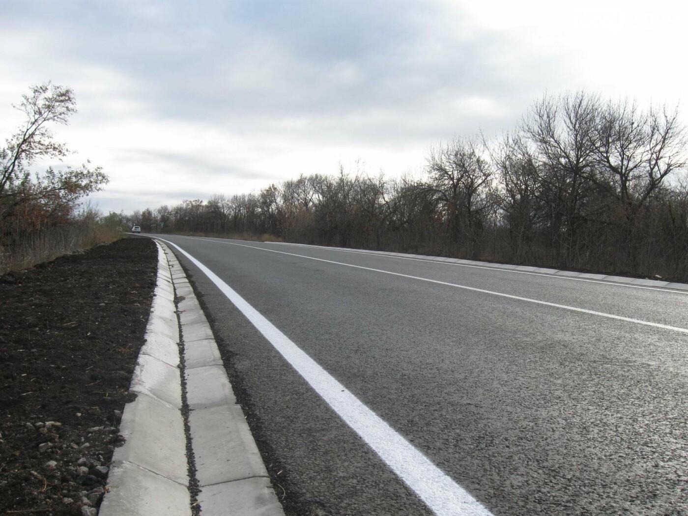 Завершен ремонт участка международной трассы от Славянска в направлении Бахмута, фото-3