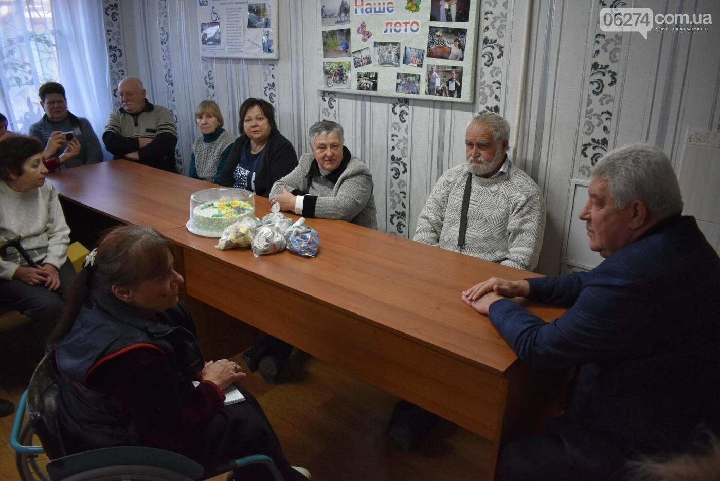 Бахмутский городской голова встретился с членами общества людей с инвалидностью «Надежда», фото-3