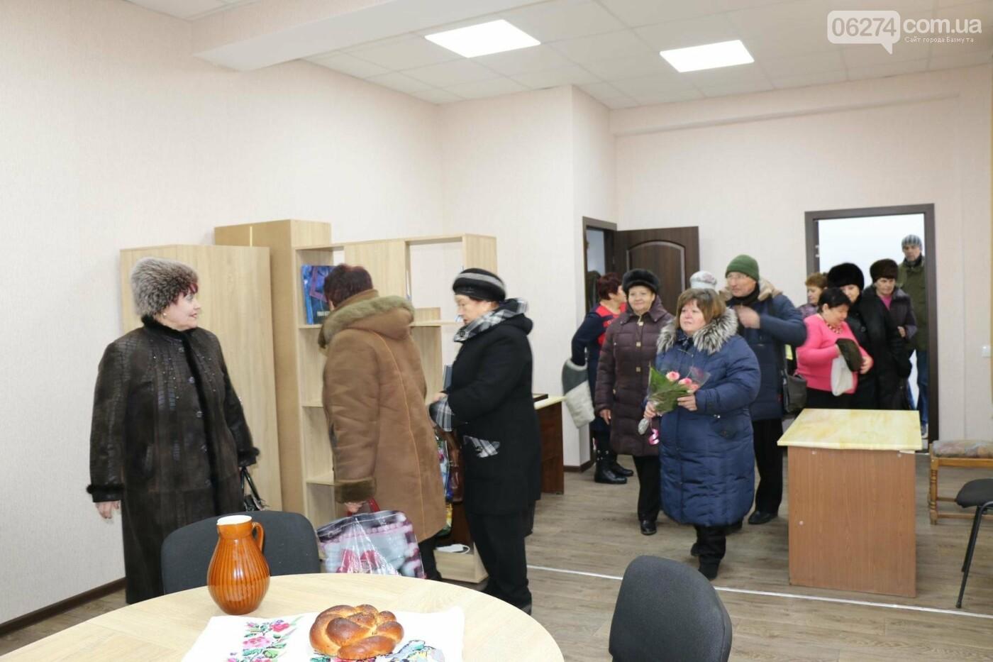 В Бахмуте открыли обновленное помещение комитета микрорайона «Цветмет», фото-9