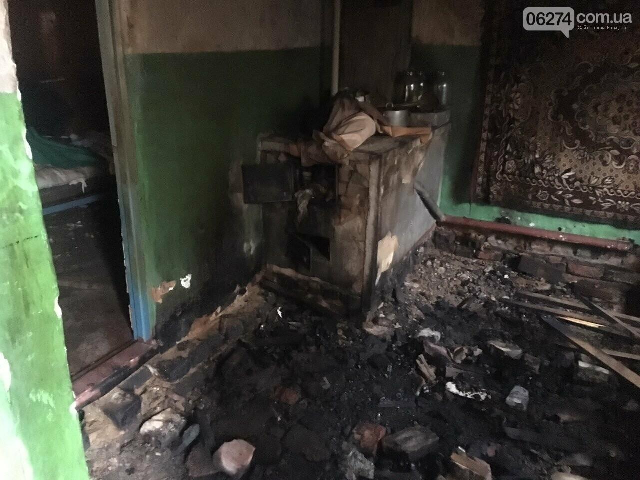 В Бахмуте на пожаре обнаружили тело погибшего мужчины, фото-1