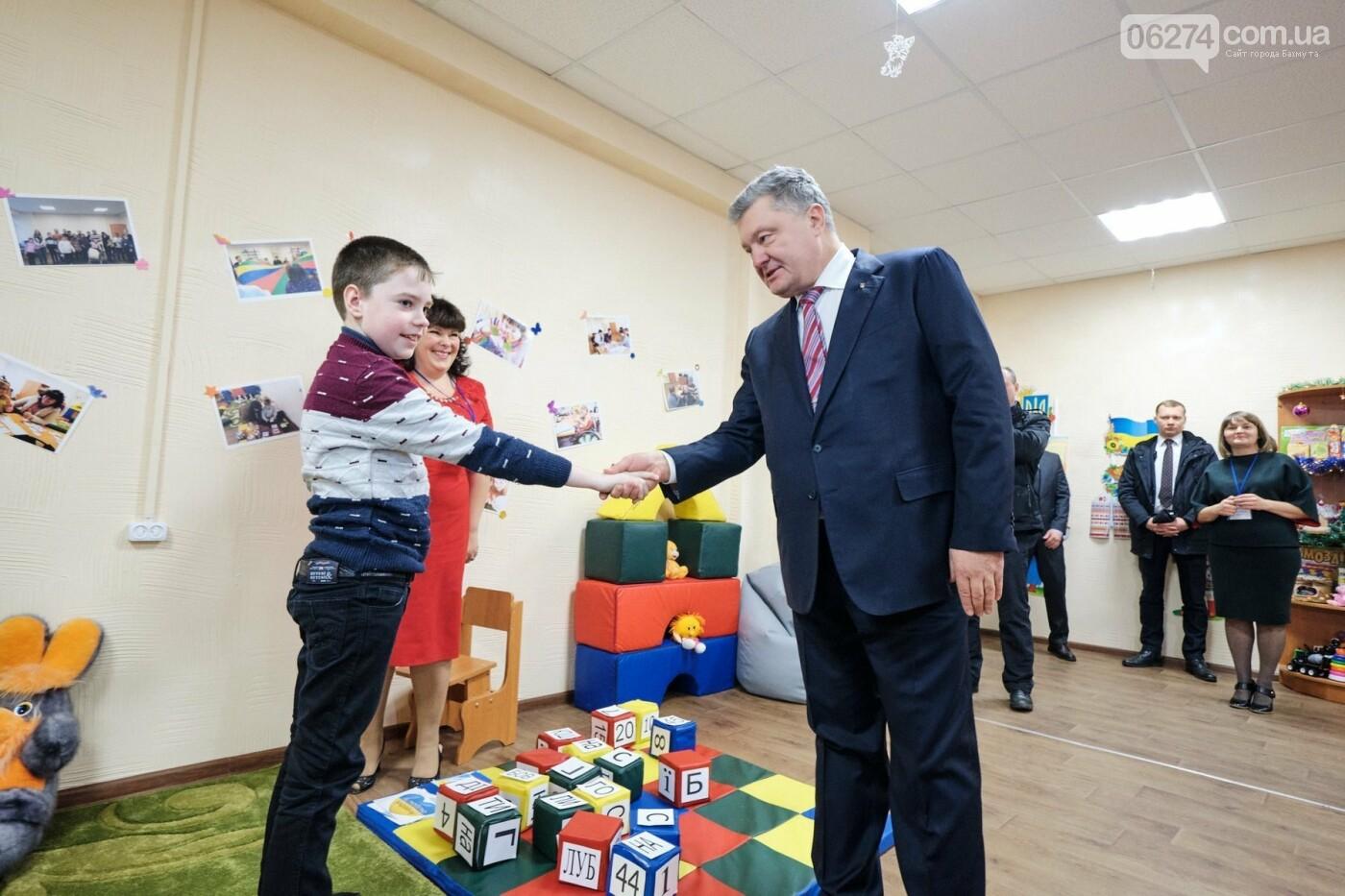 Президент Украины Петр Порошенко посетил Бахмут (ДОБАВЛЕНО ФОТО), фото-17
