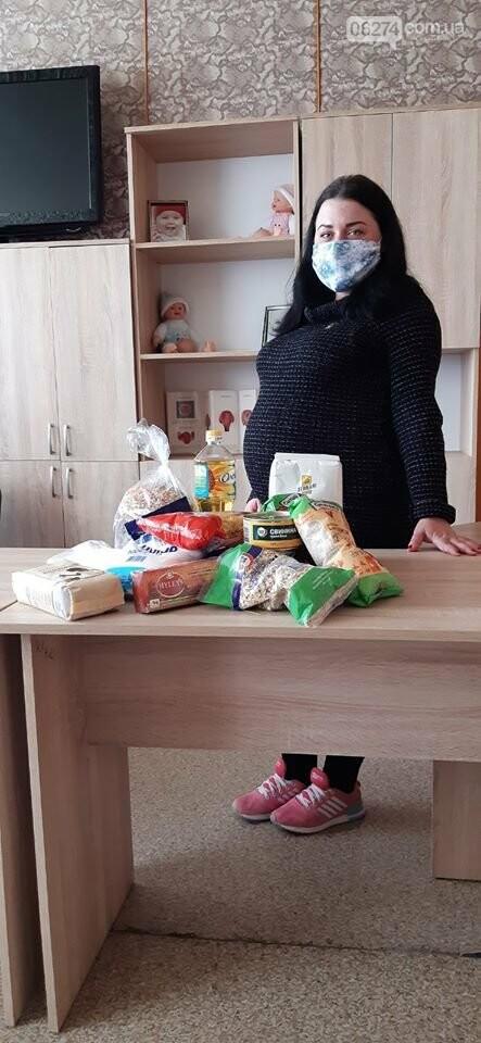 Беременные женщины Бахмута получили продуктовые наборы от Алексея Ревы, фото-5