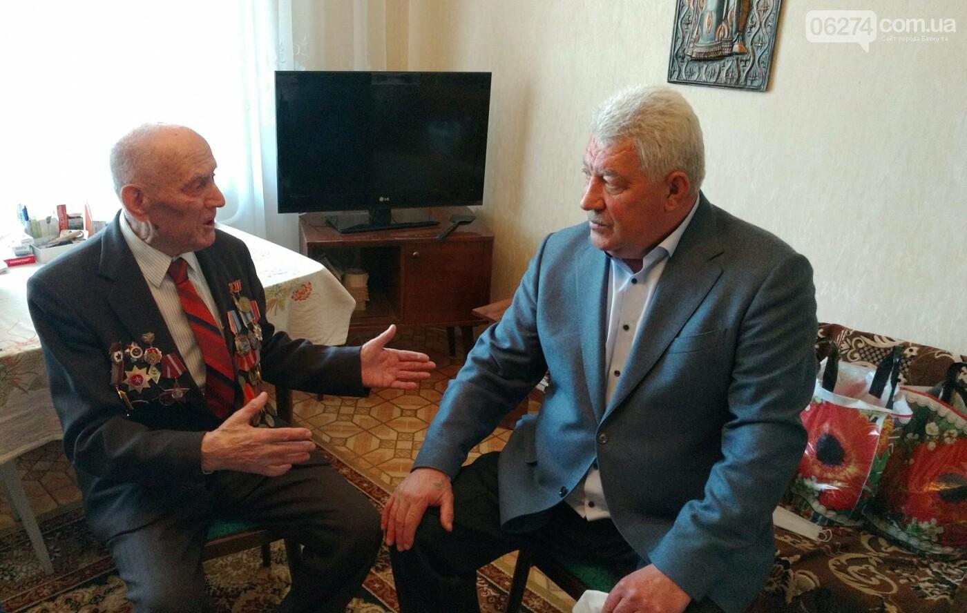 Мэр Бахмута поздравил ветеранов Второй мировой с 75-летием Победы, фото-1