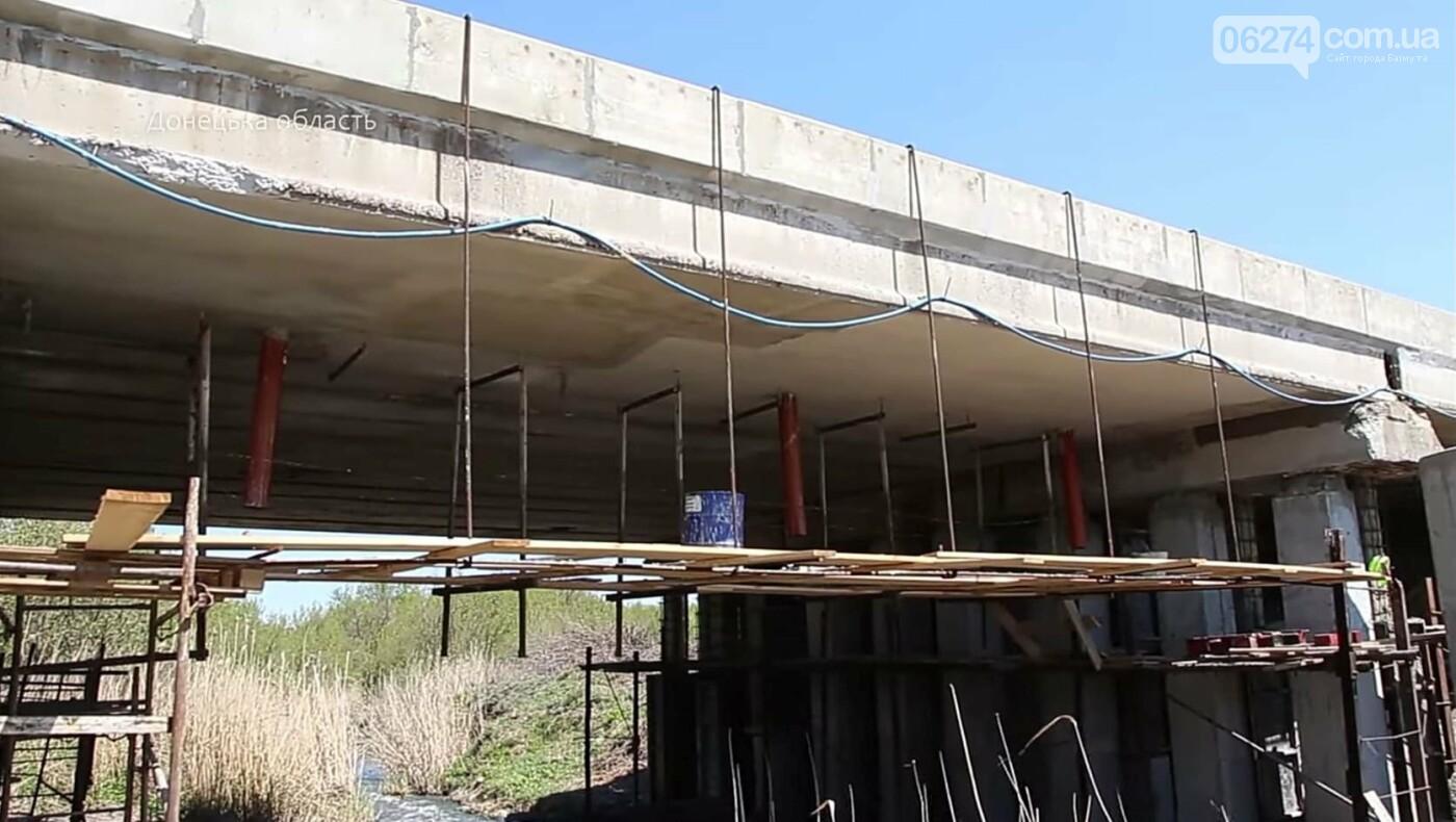 В Бахмутском районе ведутся ремонтные работы на мосту через реку Бахмутка, фото-3
