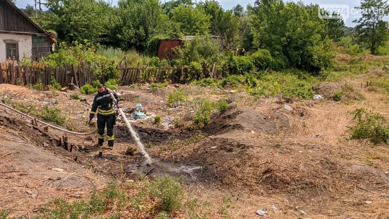 В Бахмуте вместо уборки на набережной произошел пожар (ВИДЕО), фото-5