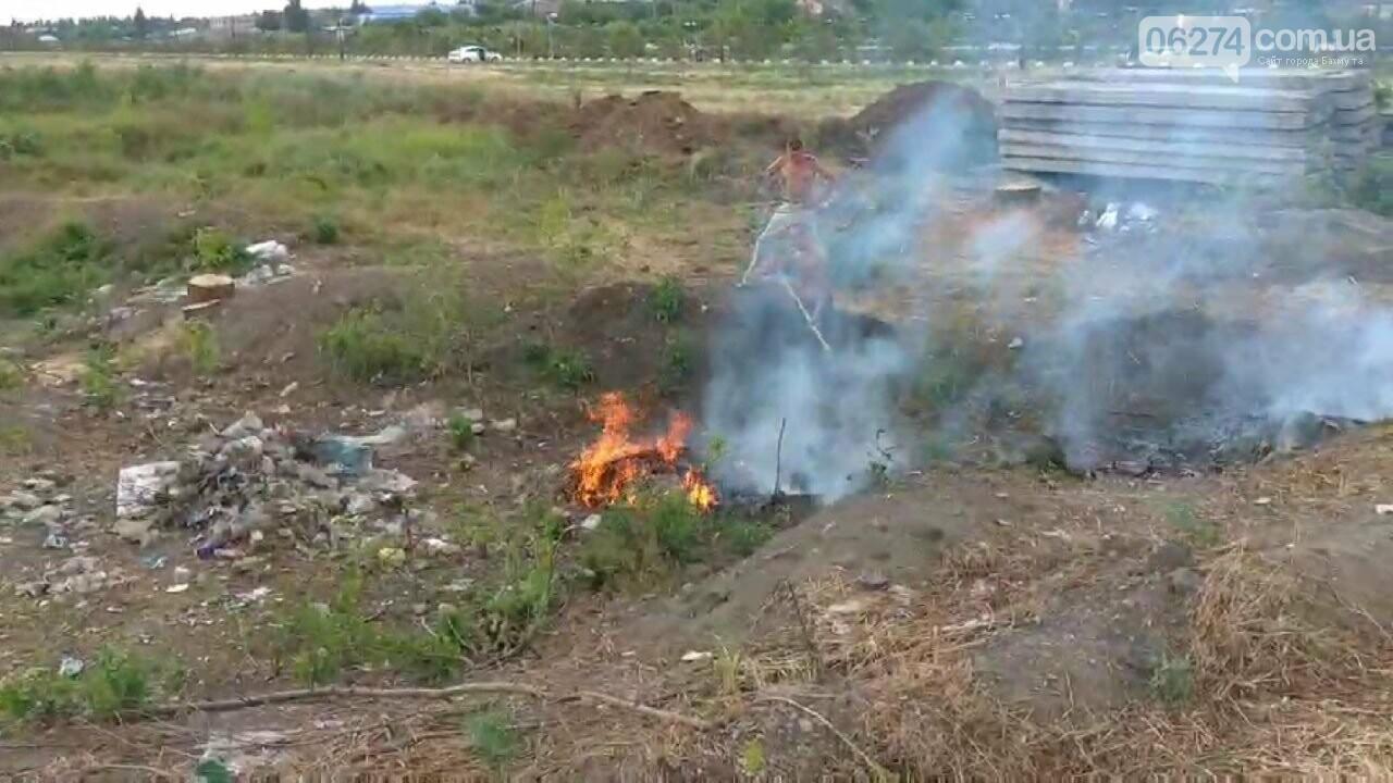 В Бахмуте вместо уборки на набережной произошел пожар (ВИДЕО), фото-3