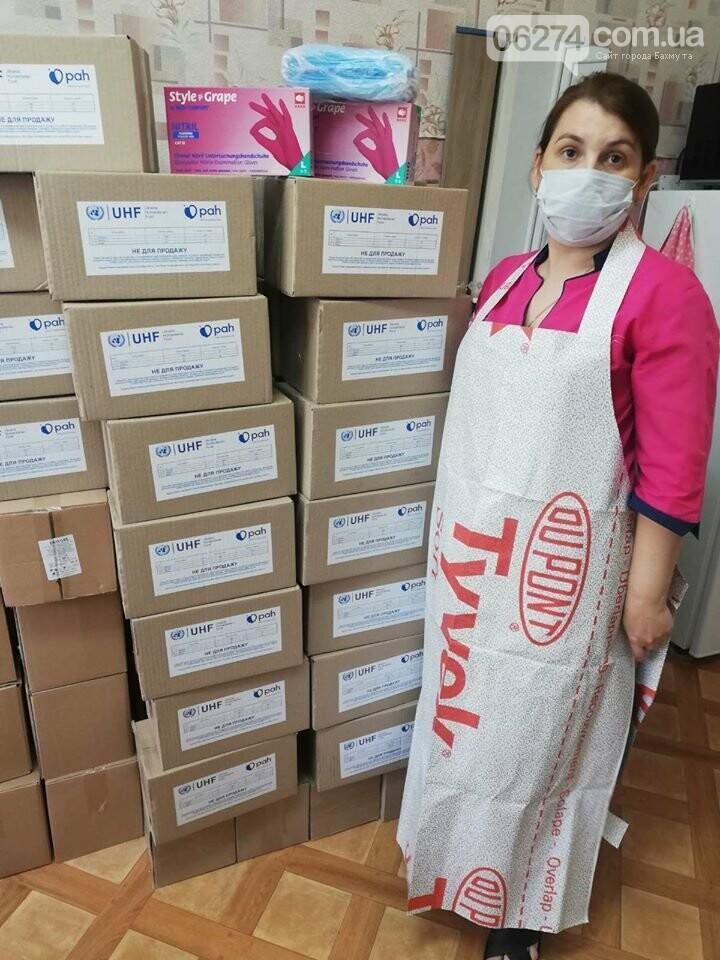 Бахмутская больница продолжает получать гуманитарную помощь в связи с COVID-19, фото-8