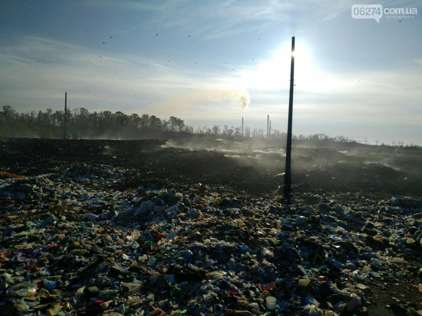 В Бахмутском районе продолжается ликвидация пожара на санкционированной свалке, фото-2